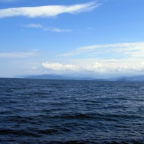 Байкал - Чивыркуйский залив. Вид от Святого Носа
